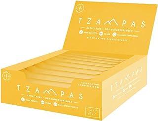 TZAMPAS Cacao Nibs - Clean Eating Energieriegel aus gerösteter Gerste mit Cacao Nibs - Vegan Bio 16 Stück à 40 g