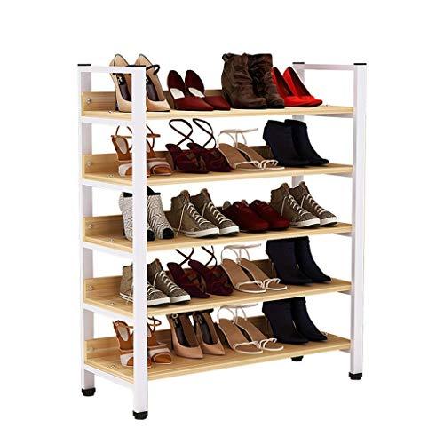 Almacenamiento de zapatos Almacenamiento de zapatos de 5 capas Soporte gratuito Soporte de almacenamiento para zapatos deportivos Zapatos de tacón alto, puede acomodar 20 pares para el vestíbulo de en
