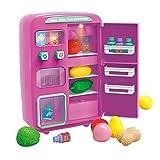 Frigo Jouet pour Enfants,Mini réfrigérateur électrique Simulation avec jeu de nourriture, Distributeur...