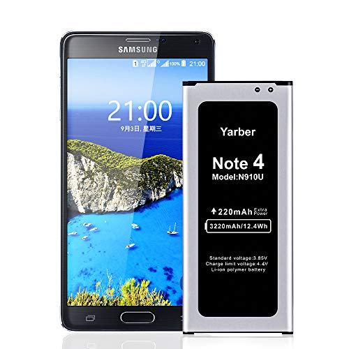 Galaxy Note 4 Battery, Yarber 3220mAh Li-ion Replacement Battery for All Samsung Galaxy