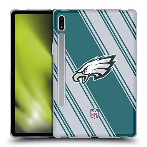 Head Case Designs Licenciado Oficialmente NFL Rayas Philadelphia Eagles Artwork Carcasa de Gel de Silicona Compatible con Samsung Galaxy Tab S7 5G