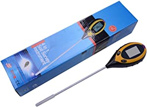 Probador de suelo 4 en 1, medidor de luz del medidor de humedad del suelo PH, adecuado para el cuidado de plantas en interiores y exteriores