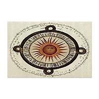 HiYash マンダラ風呂敷物ボヘミアン古代エスニック太陽占いシンボルシャワーマット15.7X23.6in家の装飾のための玄関マット浴室床敷物