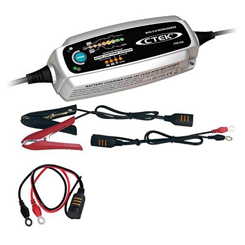 CTEK MXS 5.0 Test&Charge BATTERIELADEGERÄT+SCHNELLKONTAKTKABEL M8 31799679