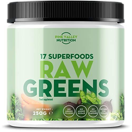 Pine Valley Nutrition se enorgullece en presentar Raw Greens, nuestro complemento de verduras naturales que contiene una mezcla de 17 superalimentos sin aditivos, sólo verduras - sólo verduras naturales sin alteraciones. Raw Greens se distingue de ot...