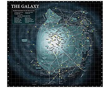 The Galaxy Map Poster Wall Decor Art Print 24x24 Inches Photo Paper Material Custom Poster