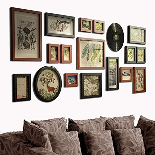 HS-01 Fotoalbum Photo Wall Photo Frame Muur Woonkamer Eetkamer Europese Decoratieve Schilderij Effen Hout Creatieve Combinatie Moderne Minimalistische Schilderij Land