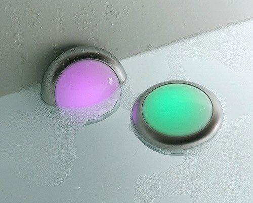 ANSMANN Aqualight LED-Unterwasserleuchte – Beleuchtung für Pool Badewanne Wellness Teich Party – Stimmungslicht wasserfest schwimmfähig (2er Pack) - 2