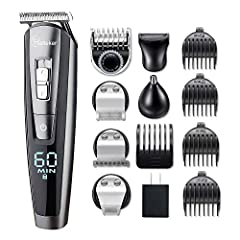 【5 in 1 Multi-Functional grooming kit】Precision shaving system design including beard/hair/nose trimmer,body groomer. Slide switch for precision trimmer cutting length fine tuning 1:0.8mm/2:1.3mm/3:1.8mm.1 adjustable beard trimmer comb (3/4/5/6mm) fo...