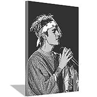 ジャスティンビーバーキャンバス絵画アートポスターホームキャンバス壁アート絵画バー装飾絵画寝室リビングルームオフィス装飾ポスター20x30cm(8x12inch)フレームなし