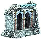 Adorno Creativo Resina Ruinas de la Pared Romana Antigua Paisajismo Pecera Decoración del Acuario Deacute; Adornos de Cor