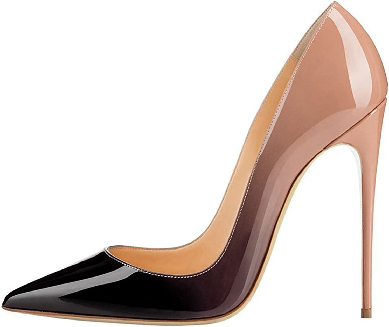 UMEXI Women Pointed Toe High Heels Slip on Stilettos Wedding Party Dress shoes Plus Size Pumps