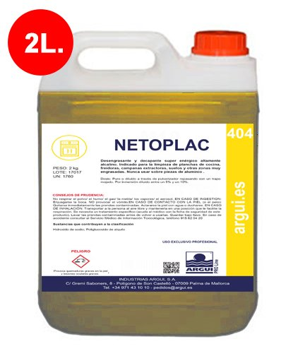 Desengrasante profesional potente y concentrado de Netoplac