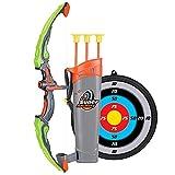 Abarich Arco Set niños Tiro con Arco Juegos con 3 Flechas de Tiro,Juego de Arco y Flecha para niños y niñas,Regalo para niños