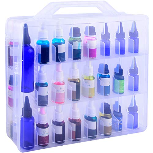 Alcohol Ink Storage Organizer for The Bottle of Alcohol Ink, Stickles Glitter Glue, Glossy Accents or Reinkers, Tattoo Ink Set Holder, Paint Case Container Box Hold 48 Bottles. (Ink not Included)