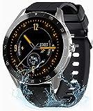 Relojes Inteligentes Hombre Mujer, Gretel X1 Smartwatch - Pulsómetro Monitor de Sueño Cronómetros Notificación Inteligente, Impermeable IP68, Pulsera Actividad Inteligente Compatible con Android y iOS