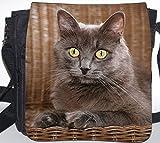 +++ SIBIRISCHE WALDKATZE Katze - SCHULTERTASCHE Umhängetasche Tasche TAS/BAG - SIB 06