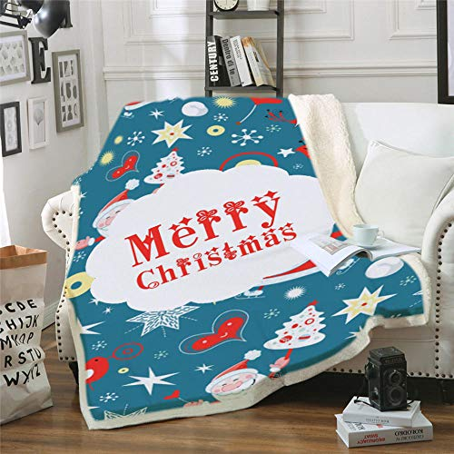 LIFUQING Premium Blanket Christmas Mantas para Sofa Decorativa Throw Blanket Colcha De Cama Casal Wool Blanket and Throw Coperte-120x150cm
