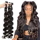 8-40inch Brazilian Body Wave Human Hair 3 Bundles 20 20 20 inch Bundles 8A Unprocessed Virgin Body Human Hair Weave Bundles Natural Black Remy Hair