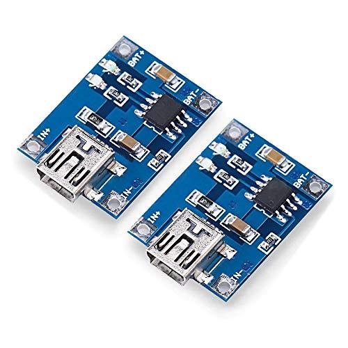Luoshan Módulo de Carga 2 PCS Landa Tianrui LDTR-WG0115 de Litio-Ion batería con el Puerto USB Mini