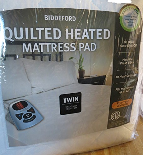 Biddeford Automatic Heated Quilted Mattress Pad White Color...