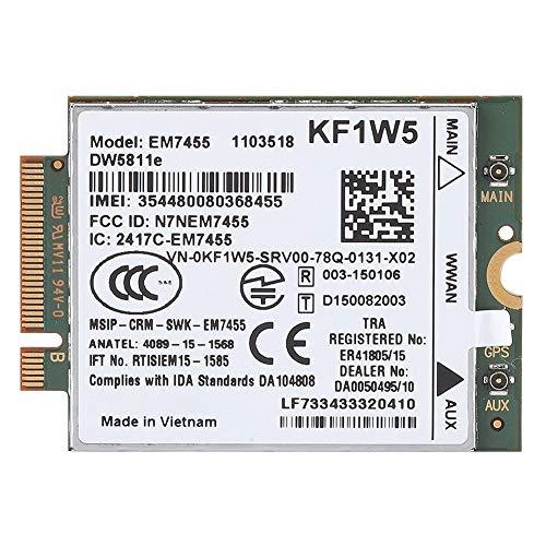 Cloudbox Módulo de Tarjeta de Repuesto inalámbrico EM7455 para módulo de Tarjeta DELL DW5811e Qualcomm 4G LTE WWAN NGFF