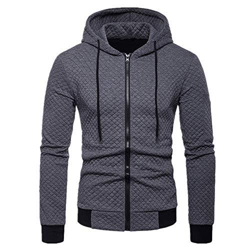 Chaqueta de algodón a cuadros con capucha de los hombres de color a juego de manga larga gruesa suéter chaqueta