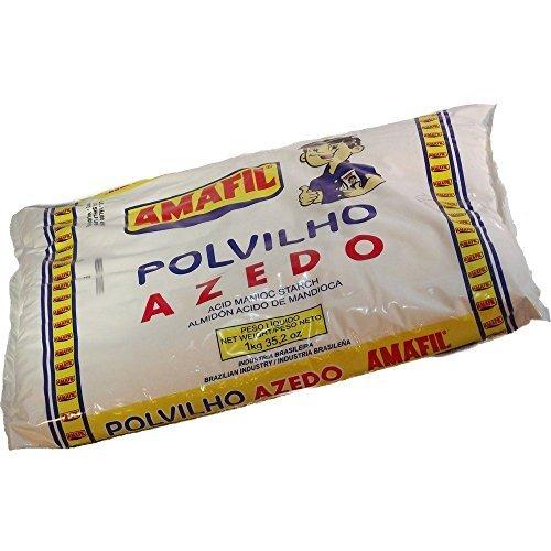 Amafil Sour Manioc Starch 35.2 Oz Polvilho Azedo 1kg Pack , 70.4...