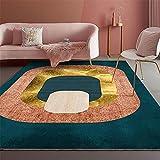 alfombra oficina muebles sala de estar El dormitorio y la sala de estar alfombra de cristal terciopelo azul naranja color naranja no se desvanece. alfombras habitacion matrimonio 60x90cm 1ft 11.6