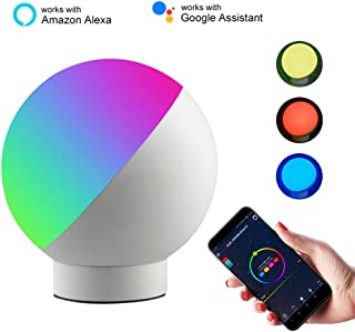 Alexa Smart Table Lamp WiFi Voice Control LED Mood Light Compatible with Alexa and Google Home Color and Brightness Cotrol Eye Protection Mini Desk Top Night Light