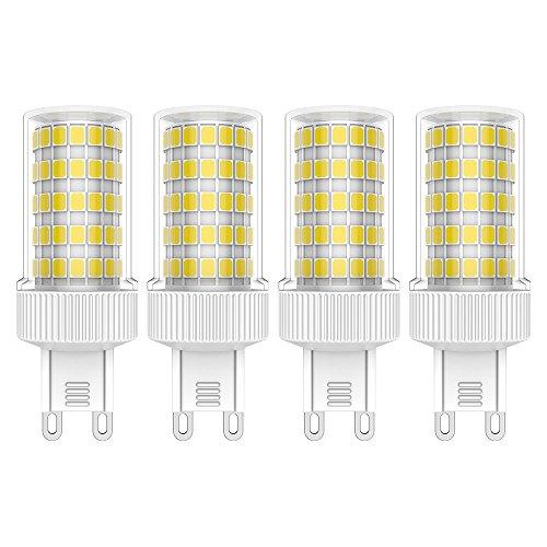 4 Stück G9 LED Lampen 10W LED Leuchtmittel 76 SMD 2835LEDs Kaltweiß 6000K LED Lampe Hohe Helligkeit 800LM Keine Flicker AC220V-240V