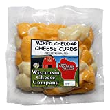 Wisconsin Cheese Company - Fresh Healthy Famous Mixed Cheese Curd Snacks. (2ct-10oz. packs) Mixed Cheese.