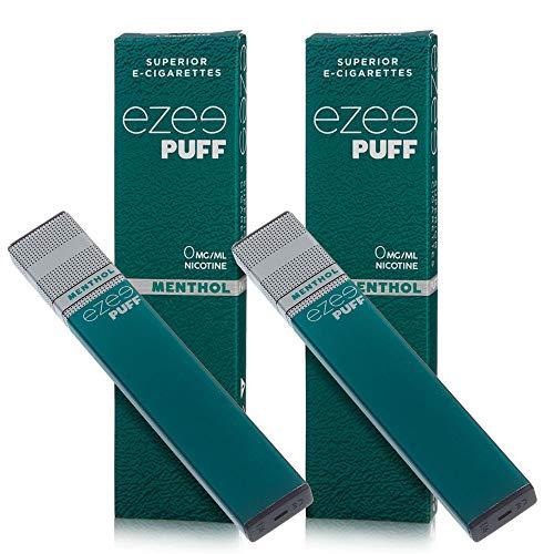 Ezee Puff Cigarrillo Electrónico Desechable sabor a Mentol e-liquido Sin Nicotina y sin Tabaco E-Cigarrillo para vapear 280...
