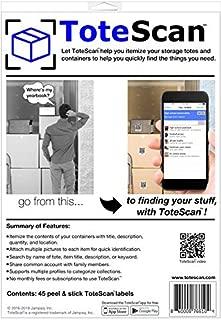 ToteScan Pre-Printed Peel & Stick Labels (45 Unique Labels)
