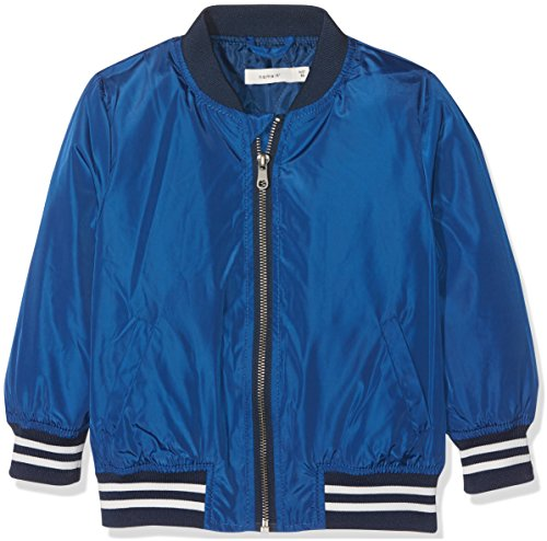 NAME IT Baby-Jungen Jacke NMMMARTEN Bomber Jacket, Blau Limoges, 98