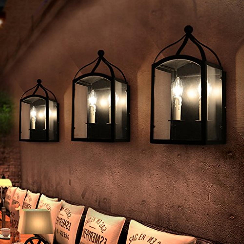 StiefelU LED Wandleuchte nach oben und unten Wandleuchten Den Wohnzimmer Wohnzimmer Schlafzimmer Wand Lampe loft Cafe Restaurant Wandleuchte, Schwarz