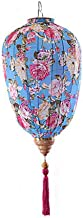 """Traditional Chinese Cloth Lantern Painted Home Garden Hanging Decorative Lampshade 14"""", Blue Peony"""