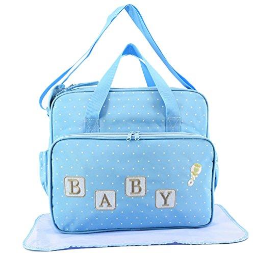 Jitong Multifunción Totes Bolsos Maternales de Hospital Bordado Gran Capacidad Bolsa de Pañales para Bebé (Azul #1, 37 * 18 * 32cm)