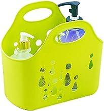 JQZLXXZL Bathing Shopping Basket Shopping Bath Basket Bath Basket Soft Storage Drainage Basket Water Drop Soft Bath Basket (Color : Green)