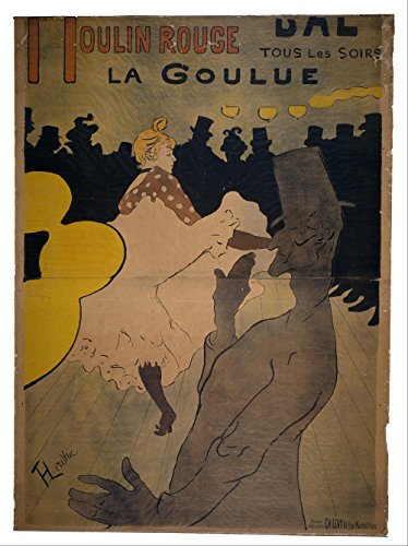 Spiffing Prints Henri Toulouse Lautrec - Moulin Rouge - Medium - Matte - Brown Frame