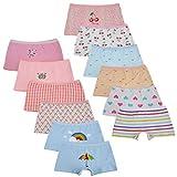 Kidear Bragas Cortas de algodón para niñas pequeñas de la Serie para niños Ropa Interior variada para bebés (Paquete de 12) (6-8 años, Estilo3)