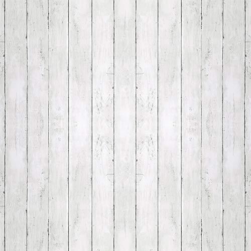 Reclaimed Wood Distressed Wood Panel Wood Grain Self-Adhesive Peel-Stick Wallpaper (QZMW06-6)