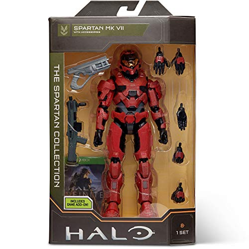 Halo HLW0020 6.5 Collection – Spartan Mk. VII (Infinite) Highly Articulated, Poseable with Weapon Accessories-Scaled to Play & Display