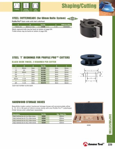 Amana Tool - BU-562 Shaper Cutter 'T' Reduction Bushings (with Flange) 30mm to 3/4