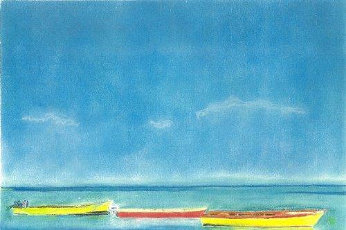 Barcos de pesca en ANGUILLA Pastel tizas para tacos de billar de dibujo + soporte: Amazon.es: Hogar