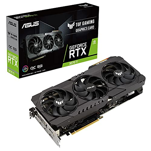 ASUS TUF Gaming NVIDIA® GeForce RTX™ 3070 Ti 搭載ビデオカード OC/ PCIe 4.0 / 8GB GDDR6X / HDMI 2.1 / DisplayPort 1.4a /デュアルボールファンベアリング, ミリタリーグレードのコンデンサ/ GPU Tweak II TUF-RTX3070TI-O8G-GAMING
