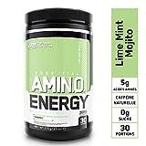 Optimum Nutrition Amino Energy, Pre Workout Booster Avec Bêta-Alanine, Cafeine, Acides Aminés et Vitamine C, Mojito Citron Vert, 30 Portions, 270 g