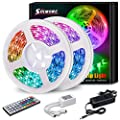 LED Strip Lights, SOLMORE 32.8FT/10M SMD5050 RGB LED Strip Lights 300LEDs Light Strips Color Changing Rope Lights Dimmable Tape Lights with 44 Keys IR Remote for Bar Kitchen Bedroom Home Decoration