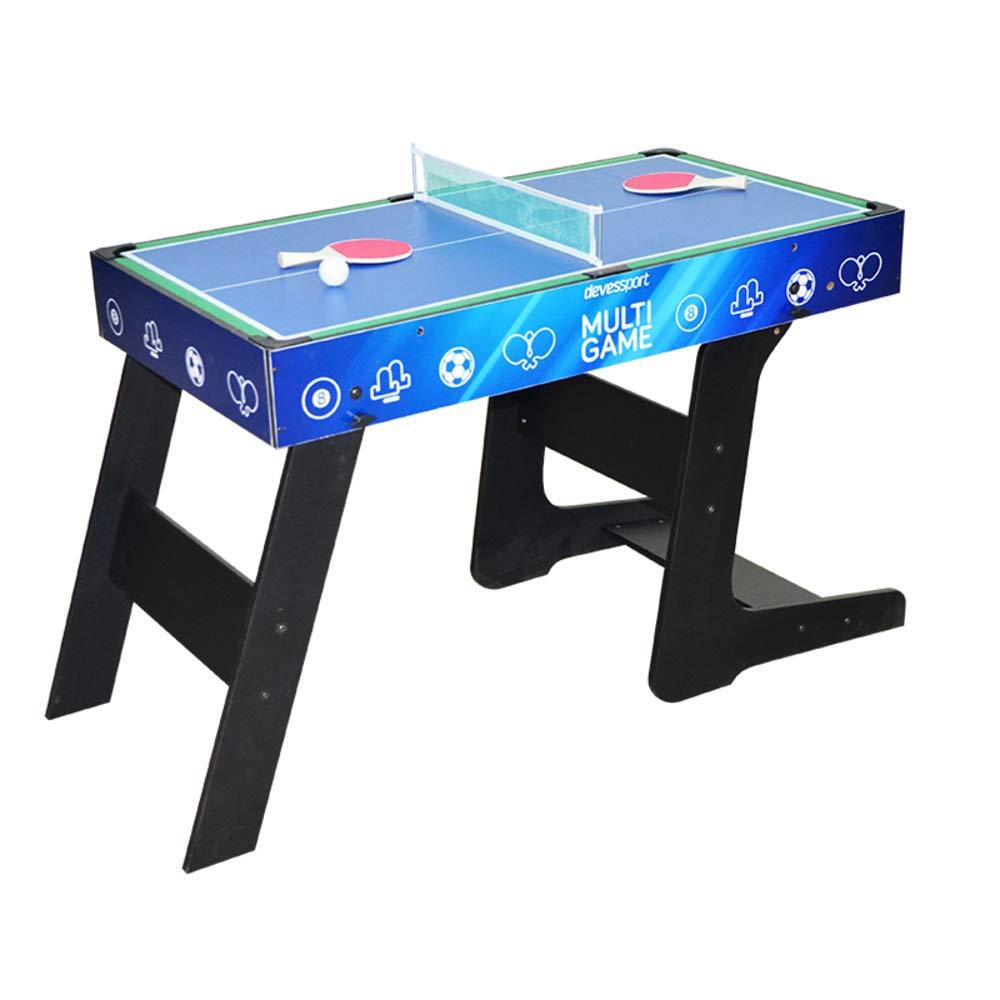 Devessport - Sport Arena - Multijuego 4 en 1 - Futbolín, Billar, Airhockey, Ping-Pong, Barras metálicas, Mango de plástico - Medidas: 122 x 60.5 x 82 Cm: Amazon.es: Juguetes y juegos