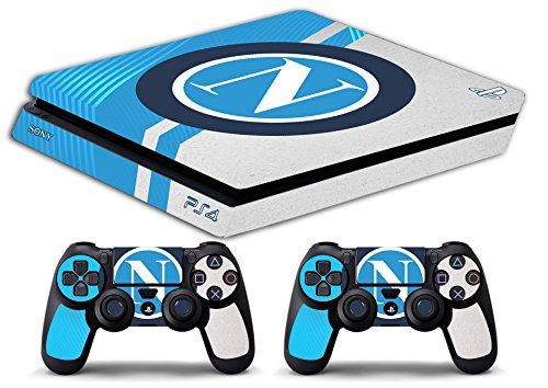 Skin Ps4 SLIM - NAPOLI SCUDETTO LOGO ULTRAS CALCIO - limited edition DECAL COVER Schutzhüllen Faceplates playstation 4 SONY BUNDLE